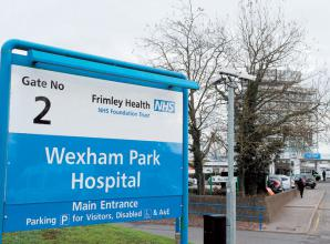 What are the new rules for hospital visitors at Frimley Health Trust?