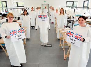 Inside the Ascot warehouse transformed to produce NHS PPE