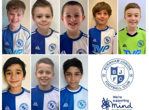 Burnham Junior u9s Reds take on marathon challenge for charity