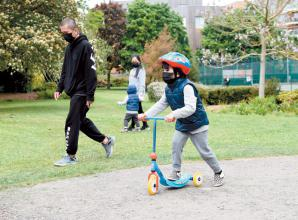 From Monday you can meet up to six friends in a park socially distanced