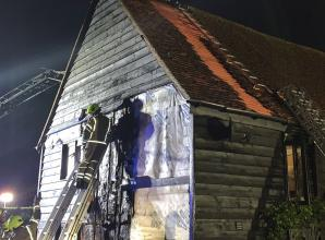 'Suspected lightning strike' sparks Bourne End house fire