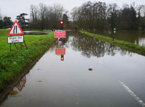 The Pound in Cookham closed due to flooding