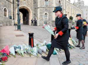 Respects paid outside Windsor Castle after death of Duke of Edinburgh