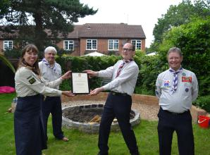Ascot Scout Group officially opens refurbished Scout Hut