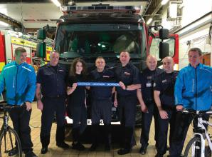 In pictures: Maidenhead Fire Station set-off on 200km bike ride