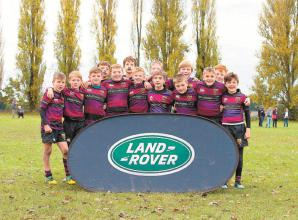 Juniors from Maidenhead RFC and Windsor RFC display effort and skill in Land Rover Premiership Rugby Cup.