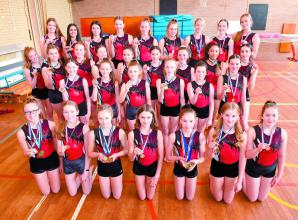High flying Newlands Girls School gymnastics squads qualify for national finals