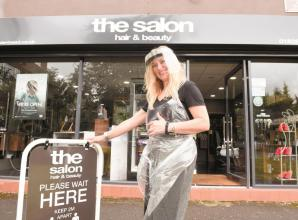 Hairdressers welcome back clients after months in lockdown