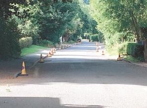Cones installed to prevent problem parking in Hurley