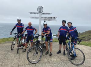 Cousins ride a tandem bicycle 1,000 miles for charity