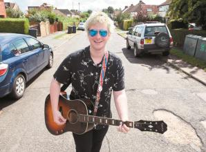 Burnham musician Dan Pryde entertains neighbours with live performances every Sunday