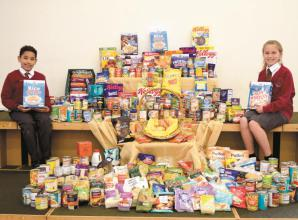 Food bank receives bumper crop from school harvest festivals