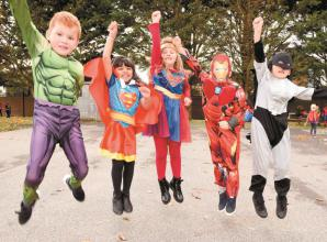 Holyport CofE Primary School pupils celebrate a term's work