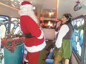 Santa's festive grotto bus to roll up at the Riverside Marquee