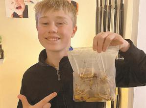 Free dog biscuits made by Cookham teen for Maidenhead Foodshare
