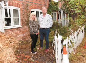 Hurst couple left feeling vulnerable after vehicle hits their home